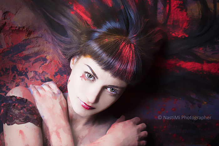 Фотосъемка с Холи красками